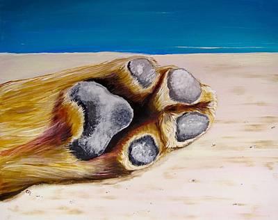 Pet Painting - Poolside by Carol Blackhurst