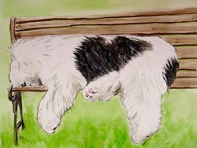 Pooped In The Park Original by Carol Blackhurst