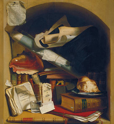 Library Painting - Poor Artist's Cupboard by Charles Bird King
