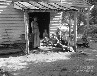 Washtub Photograph - Poor Farm Family, C.1930-40s by H. Armstrong Roberts/ClassicStock