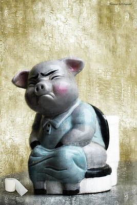 Photograph - Poor Piggy 01 by Kevin Chippindall