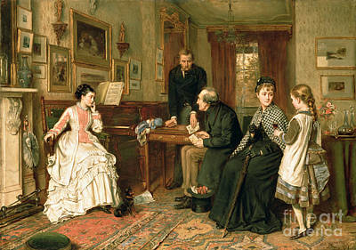 Father Painting - Poor Relations by George Goodwin Kilburne