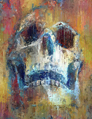 Digital Art - poor Yorick by Yury Malkov