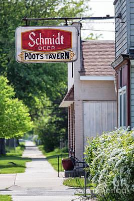 Photograph - Poots Tavern Winona Minnesota Corner Bar by Kari Yearous