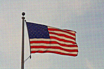 Photograph - Pop Art American Flag- Fine Art by KayeCee Spain