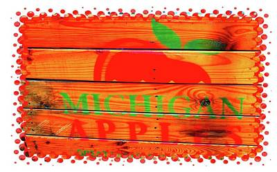 Photograph - Pop Art Apple Crate by Ellen O'Reilly