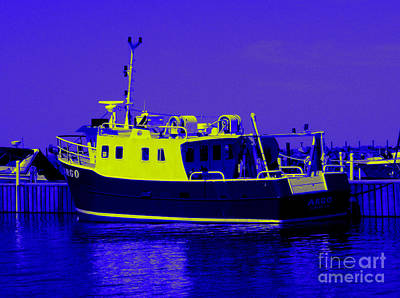 Photograph - Pop Art Argo Research Vessel Dunkirk New York by Rose Santuci-Sofranko
