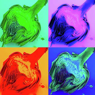 Artichoke Digital Art - Pop Art Artichoke  by Amanda Chase