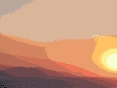Digital Art - Pop Art Athens Sunset - 2 by Karen J Shine
