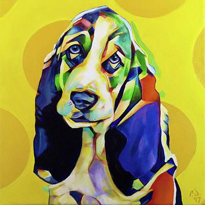 Painting - Pop Art Basset Hound by Cameron Dixon