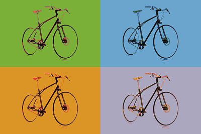 Pigeon Mixed Media - Pop Art Bicycle by Dan Sproul