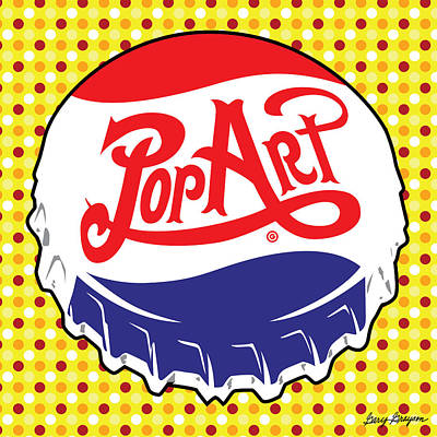 Pop Art Bottle Cap Art Print