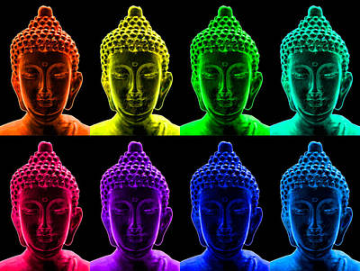 Photograph - Pop Art Buddha  by Fabrizio Troiani