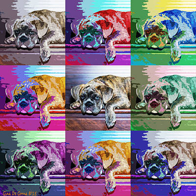 Photograph - Pop Art Bulldog - Lola by Gina De Gorna