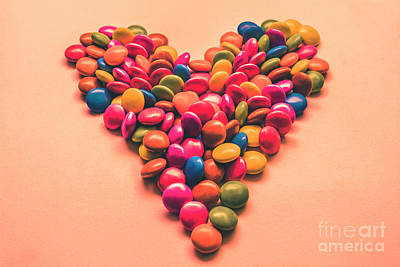 Photograph - Pop Art Candy Heart by Jorgo Photography - Wall Art Gallery