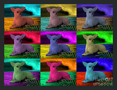 Chihuahua Digital Art - Pop Art Chihuahua With Wave by Seth Diggs