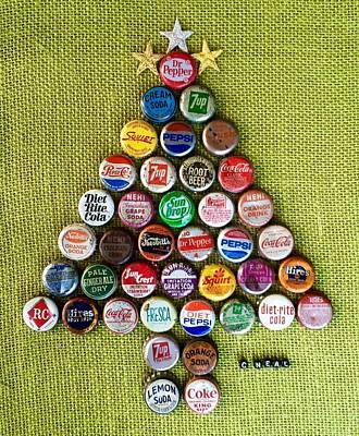 Cheers Mixed Media - Pop Art Christmas Tree by Carol Neal