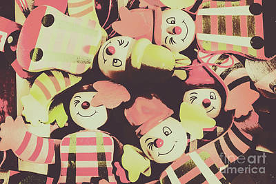 Clowns Photograph - Pop Art Clown Circus by Jorgo Photography - Wall Art Gallery