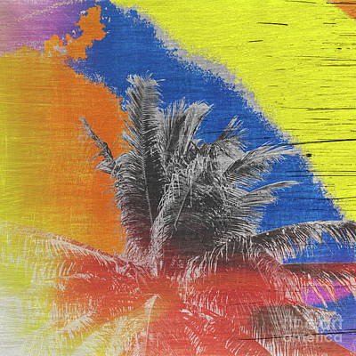 Photograph - Pop Art Coconut Tree Retro Tropical Vintage Palm  by Beverly Claire Kaiya