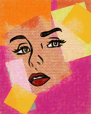 Art Print featuring the mixed media Pop Art Comic Woman by Dan Sproul