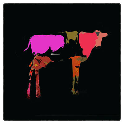 Photograph - Pop Art Cow by James Bethanis