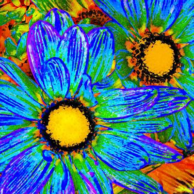 Painting - Pop Art Daisies 4 by Amy Vangsgard