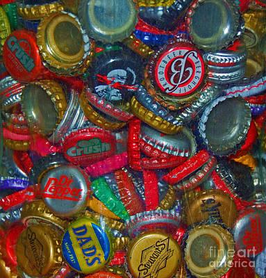 Bottle Cap Art Photograph - Pop Art by Debbi Granruth