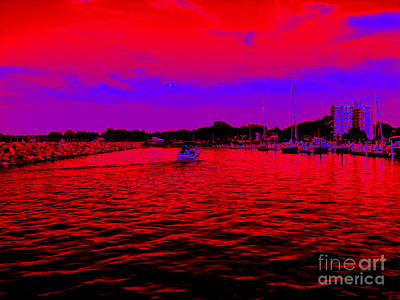 Photograph - Pop Art Dunkirk New York Harbor by Rose Santuci-Sofranko