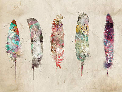 Painting - Pop Art Feathers by Bri B