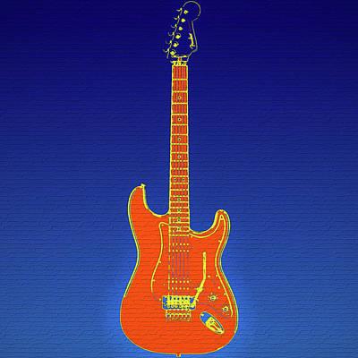 Stratocaster Mixed Media - Pop Art Fender Graffiti by Dan Sproul