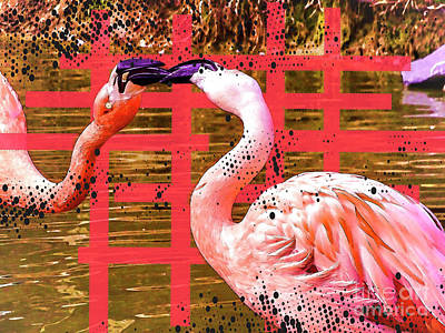 Photograph - Pop Art Flamingos by Melissa Messick