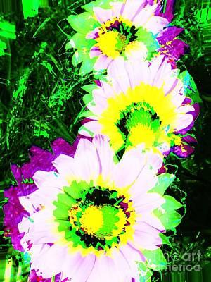 Photograph - Pop Art Flowers by Jenny Revitz Soper