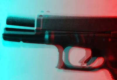 Pop Art Gun Art Print by Dan Sproul