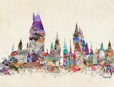 Pop Art Hogwarts Castle Art Print