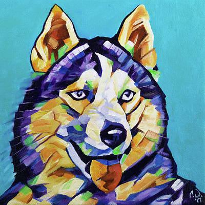 Painting - Pop Art Husky by Cameron Dixon