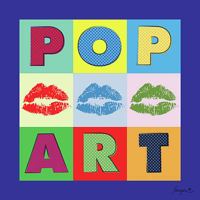 Pop Art Lips Art Print by Gary Grayson