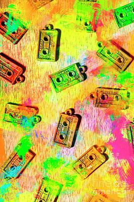 Fun Art Wall Art - Photograph - Pop Art Mix Tapes by Jorgo Photography - Wall Art Gallery