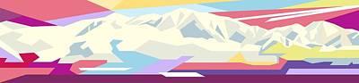 Pop Art Mountains Art Print by Jaffry Ward