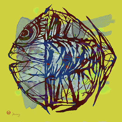 Neon Mixed Media - Pop Art - New Tropical Fish Poster by Kim Wang