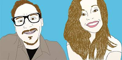 Pals Drawing - Pop Art Pals by Priscilla Wolfe