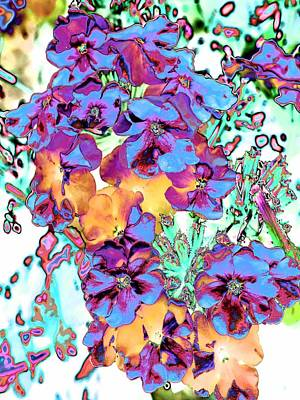 Photograph - Pop Art Pansies by Marianne Dow