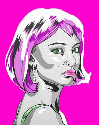 Pop Art Portman Art Print by Sarah Crumpler