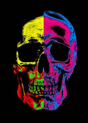 Human Skeleton Digital Art - Pop Art Resurection by Steve K