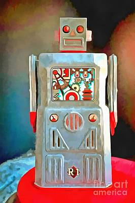 Photograph - Pop Art Robot R-1 by Edward Fielding