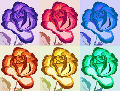 Painting - Pop Art Roses by Gina De Gorna
