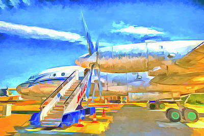 Mixed Media - Pop Art Russian Airliner by David Pyatt