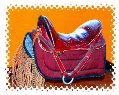 Photograph - Pop Art Saddle by Ellen Barron O'Reilly