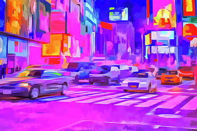 Royalty-Free and Rights-Managed Images - Pop Art Times Square  by David Pyatt
