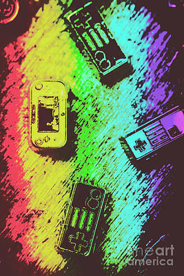 Keypad Photograph - Pop Art Video Games by Jorgo Photography - Wall Art Gallery