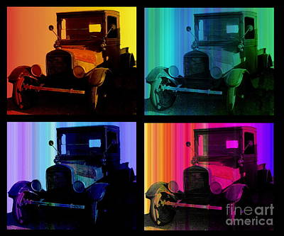 Photograph - Pop Art Vintage Ford Trucks by Marilyn Smith